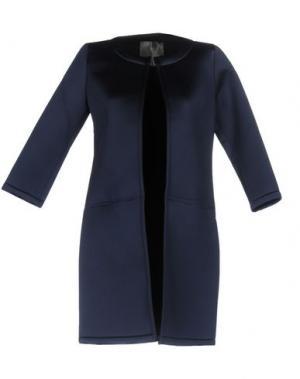 Легкое пальто ES'GIVIEN. Цвет: темно-синий