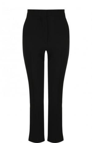 Укороченные расклешенные брюки с плиссированными вставками MSGM. Цвет: черный