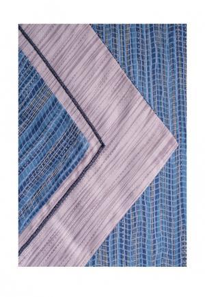 Комплект постельного белья Евро Bellehome. Цвет: синий