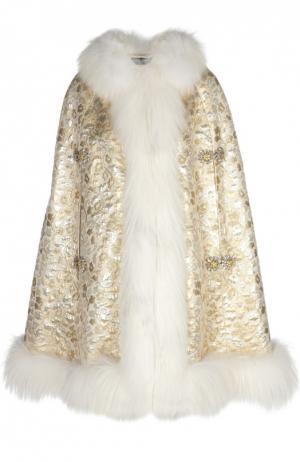 Накидка Dolce & Gabbana. Цвет: золотой