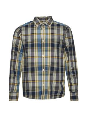 Рубашка TOM TAILOR. Цвет: синий, зеленый, черный