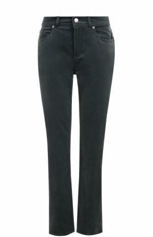 Укороченные бархатные джинсы прямого кроя Loro Piana. Цвет: синий