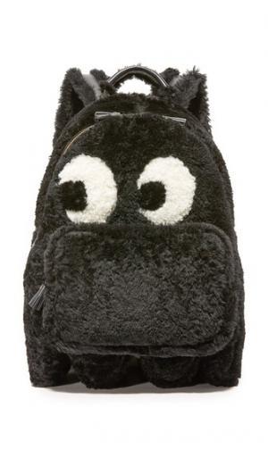 Миниатюрный рюкзак Ghost из короткой шерсти Anya Hindmarch