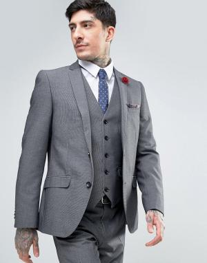 Harry Brown Узкий пиджак. Цвет: серый