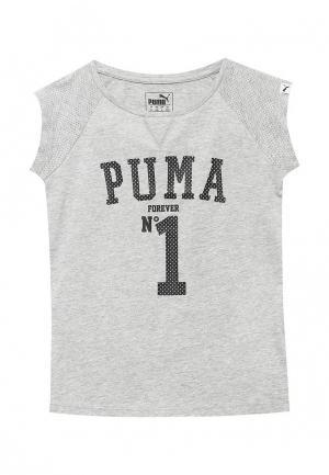 Футболка Puma. Цвет: серый