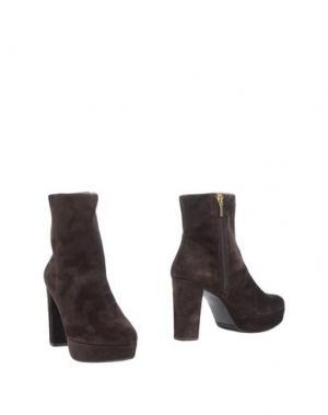 Полусапоги и высокие ботинки MARIAN. Цвет: темно-коричневый