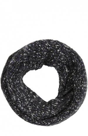 Вязаный шарф-снуд Eugenia Kim. Цвет: темно-синий