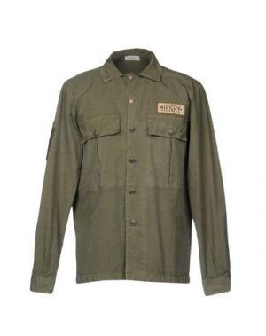 Pубашка AUTHENTIC ORIGINAL VINTAGE STYLE. Цвет: зеленый-милитари