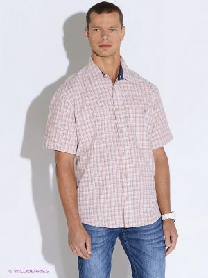 Рубашка Westrenger. Цвет: рыжий