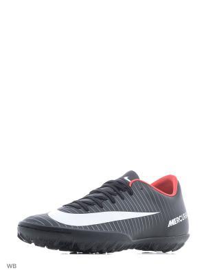 Бутсы MERCURIALX VICTORY VI TF Nike. Цвет: черный, белый