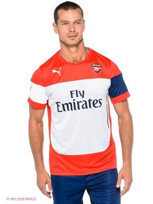 Футболка AFC Training Jersey Puma. Цвет: красный, белый