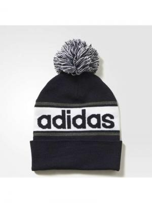 Шапка LINEAR WOOLIE Adidas. Цвет: черный, белый, серый