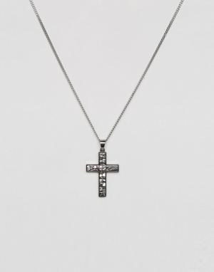 Seven London Серебристое ожерелье с крестом. Цвет: серебряный