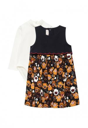 Комплект боди и платье Chicco. Цвет: разноцветный