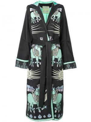 Пальто с вышивкой Dayspring Horse Yuliya Magdych. Цвет: серый