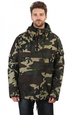 Анорак  Pollard Camouflage Dickies. Цвет: темно-зеленый
