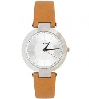 Часы с коричневым кожаным браслетом DKNY