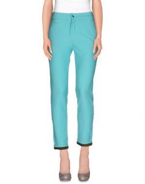 Повседневные брюки G2CHOICE. Цвет: бирюзовый