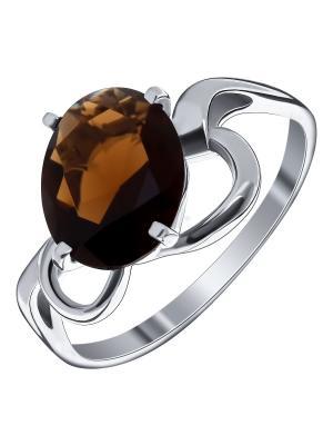 Кольцо Teosa. Цвет: серебристый, коричневый