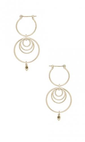 Серьги-кольца eclipse Luv AJ. Цвет: металлический серебряный