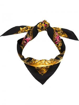 Платок с принтом логотипа Versace. Цвет: чёрный