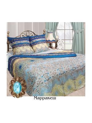 Постельное белье Семейный р. Sova and Javoronok. Цвет: голубой