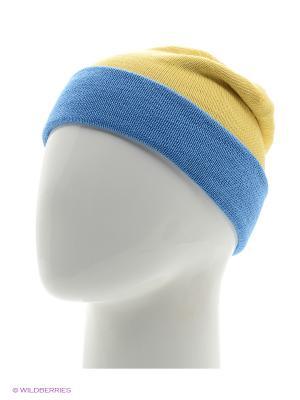 Шапка Mamashechka. Цвет: голубой, желтый