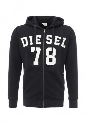 Толстовка Diesel. Цвет: синий