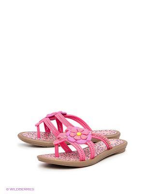 Пантолеты Grendha. Цвет: коричневый, розовый