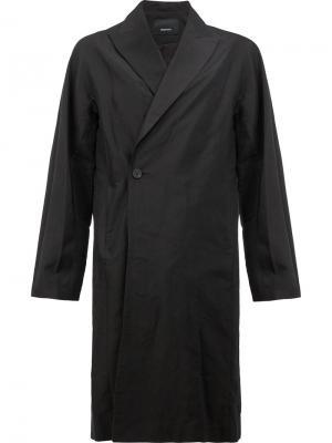 Пальто с запахом 08Sircus. Цвет: чёрный