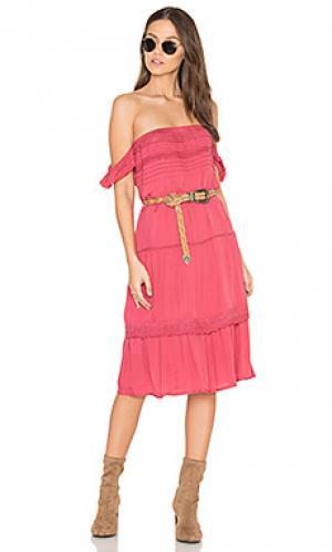 Платье desert sun day AUGUSTE. Цвет: красный