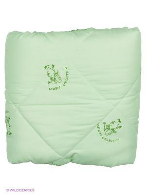 Одеяло Letto бамбук в п/э 1,5 сп универс. чемодане, 140*210см. Цвет: зеленый