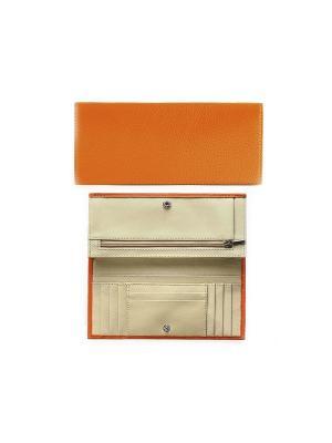 Портмоне Вектор. Цвет: оранжевый, бежевый