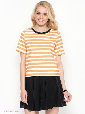Кофточка Kira Plastinina. Цвет: оранжевый, белый, черный