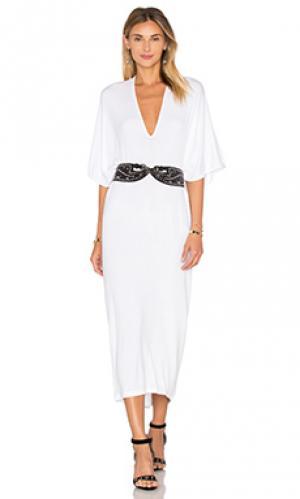 Макси платье luca Riller & Fount. Цвет: белый