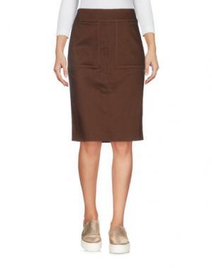 Джинсовая юбка TOM FORD. Цвет: темно-коричневый