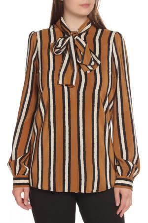 Блуза Gucci. Цвет: коричневый, белый, черный