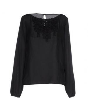 Блузка PINK BOW. Цвет: черный