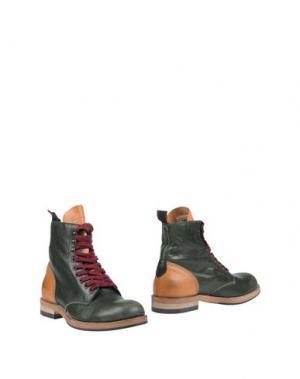 Полусапоги и высокие ботинки SMITH'S AMERICAN. Цвет: темно-зеленый
