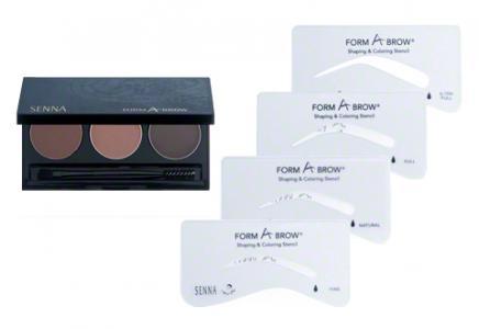 Набор для бровей Senna Cosmetics Natural. Цвет: natural