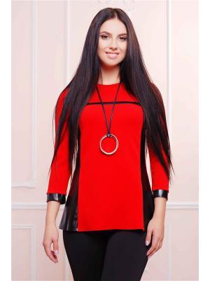 Свитшот Fashion Up. Цвет: красный, черный