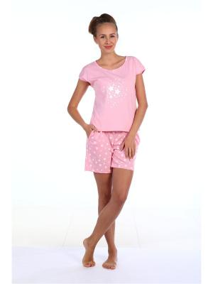 Пижамы Pastilla. Цвет: розовый