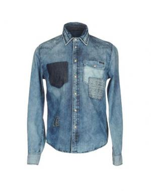 Джинсовая рубашка PEPE JEANS. Цвет: синий
