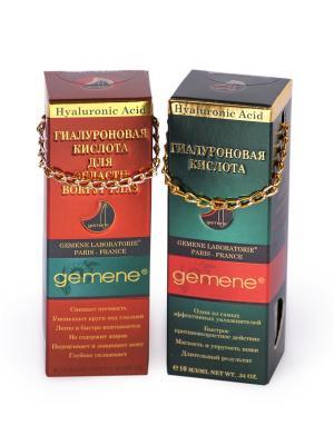 Набор Гиалуроновая кислота: Для лица и области вокруг глаз, (10 мл; 12 мл) Gemene. Цвет: прозрачный