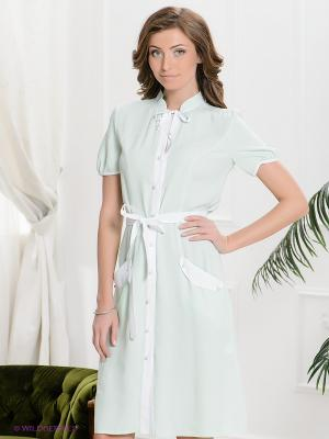 Платье Yulia Dushina. Цвет: светло-зеленый