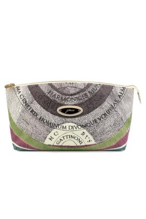 Cosmetics bag Gattinoni. Цвет: brown, beige, green