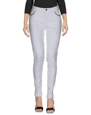 Джинсовые брюки MORGAN DE TOI. Цвет: белый