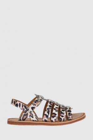 Кожаные сандалии Pom D'Api. Цвет: белый