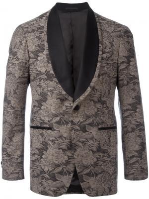Вышитый пиджак с цветочным узором Gabriele Pasini. Цвет: коричневый