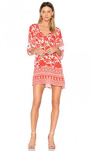 Мини платье elianna Tolani. Цвет: коралл